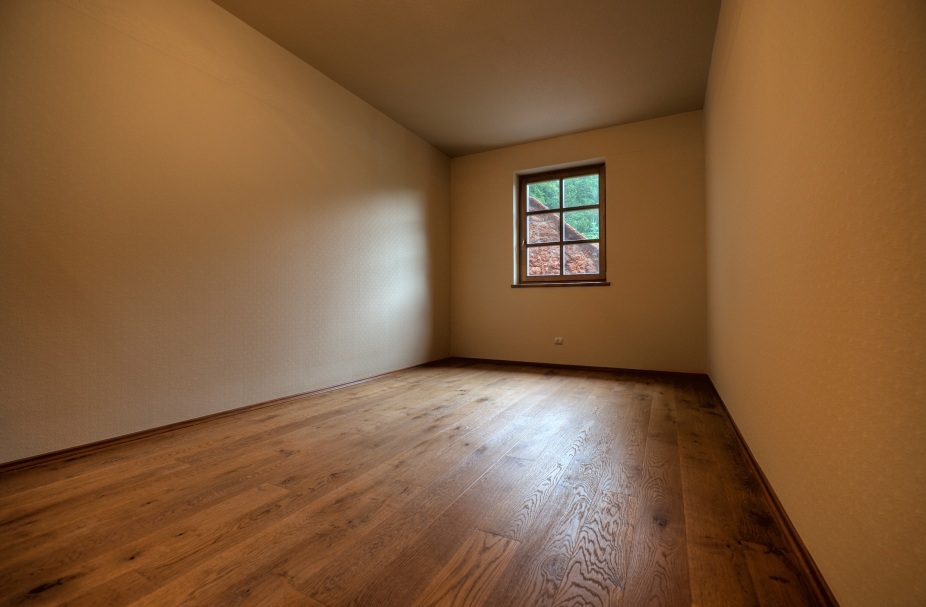 Taupe Interior Painting and Hardwood Flooring