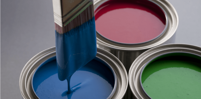 House Painters - Cumming, GA - Kimberly Painting - Best Paint Blue Red Green Cans
