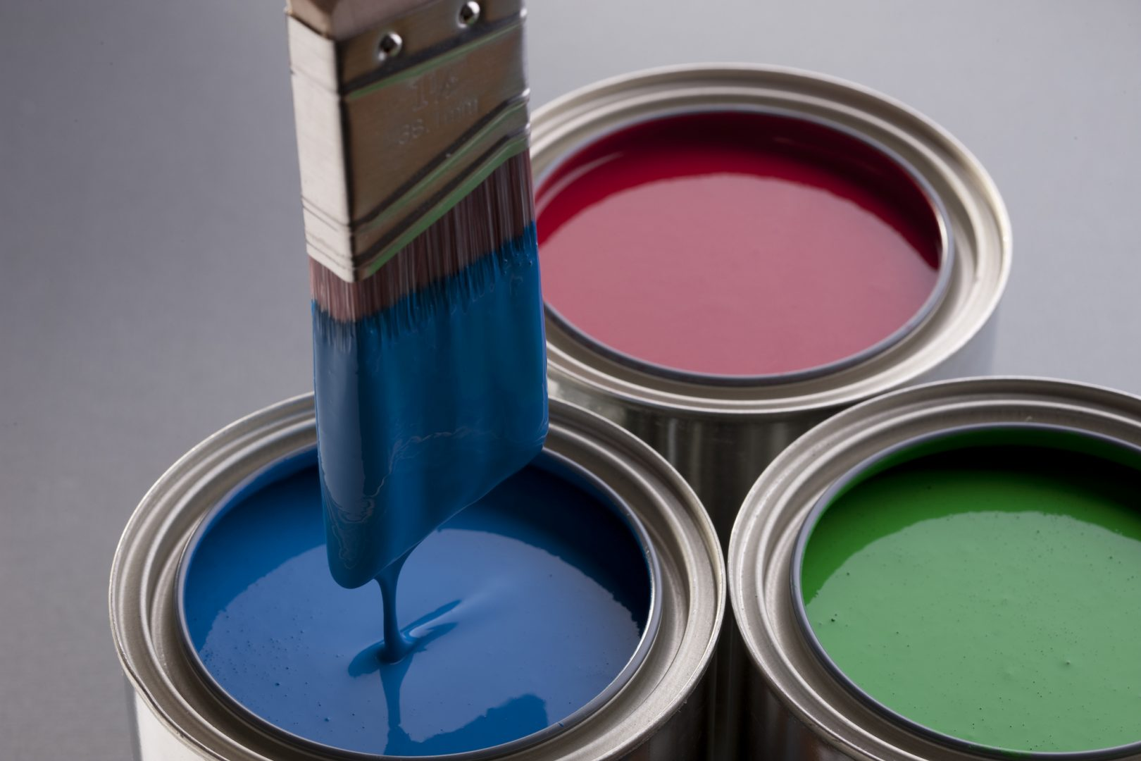 House Painters - Cumming, GA - Blue Green Red Paint Cans