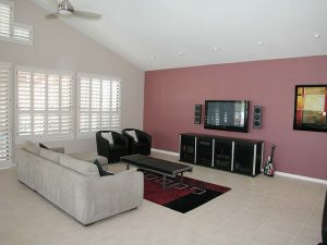 Interior Painting Color Schemes - Cumming, GA - Living Room Accent Wall Mauve