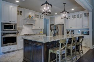 Interior Painting Color Schemes- Cumming, GA - Kitchen Accent Wall Ceiling Taupe