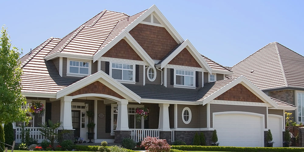 Spring Exterior Painting Brown with White Trim