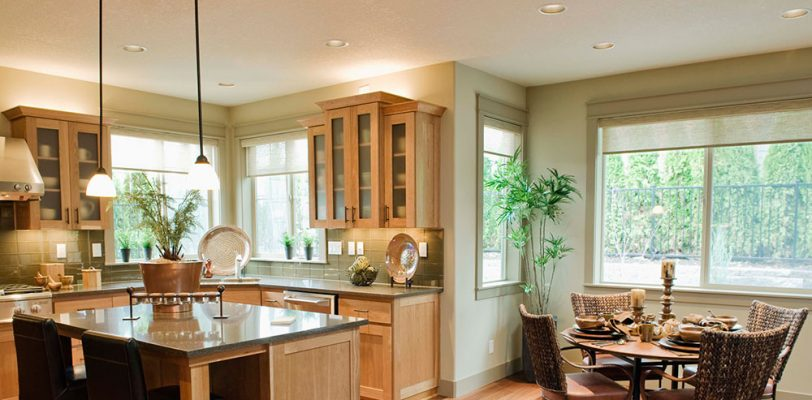 Interior Painting Light Green Kitchen and Dining Room - Cumming, GA - Kimberly Painting