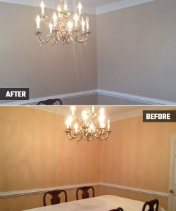 Dining Room and Foyer in Acworth, GA - Kimberly Painting Contractors