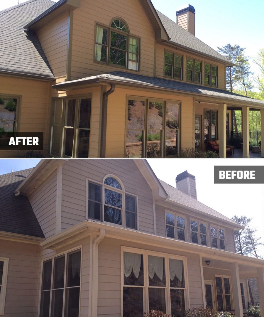 Home Exterior Painting - Kimberly Painting - Before and After