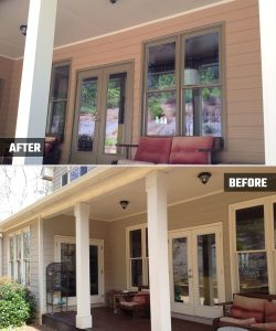 Porch painting and deck sealing - Alpharetta, GA - Kimberly Painting