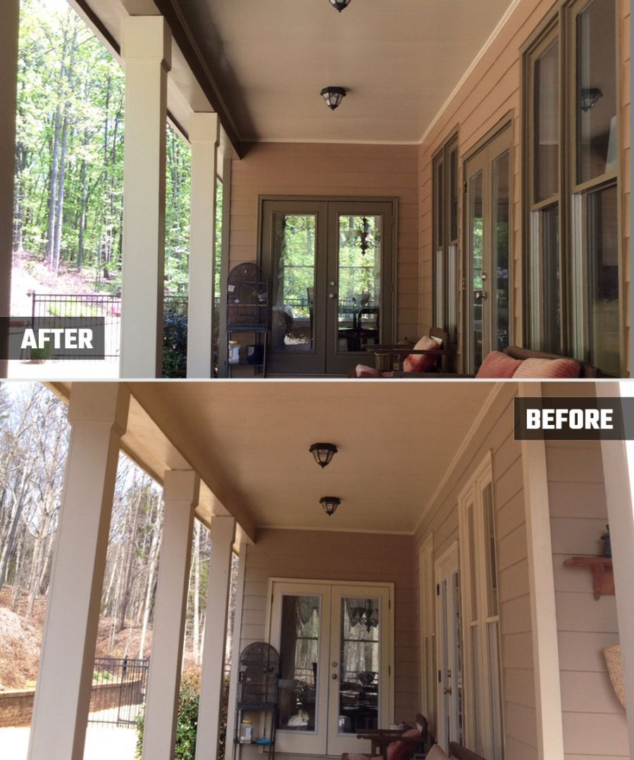 Kimberly Painting - Porch Before and After