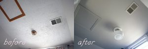 Interior Painter - Kimberly Painting - Cumming, GA - Popcorn Ceiling Removal - Before and After