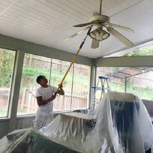 Ceiling Painting of Sun Room - Cumming, Georgia - Kimberly Painting Contractors