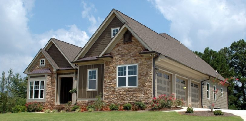 House Painting - Kimberly Painting - Cumming, GA - Neutral Exterior Paint Color Schemes - Brick and Tan with 3 Car Garage