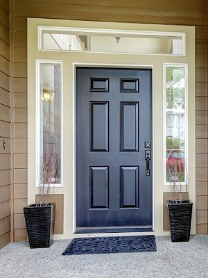 Front Door Paint Colors - Black, Beige, Brown - Cumming GA Exterior House Painters - Kimberly Painting 300x400
