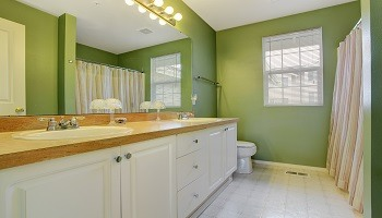 Green White Bathroom Paint Color Scheme - Cumming GA - Kimberly Interior Painting