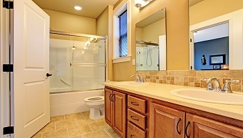 Neutral Bathroom Paint - Tan Beige White - Cumming GA - Kimberly Interior Painting