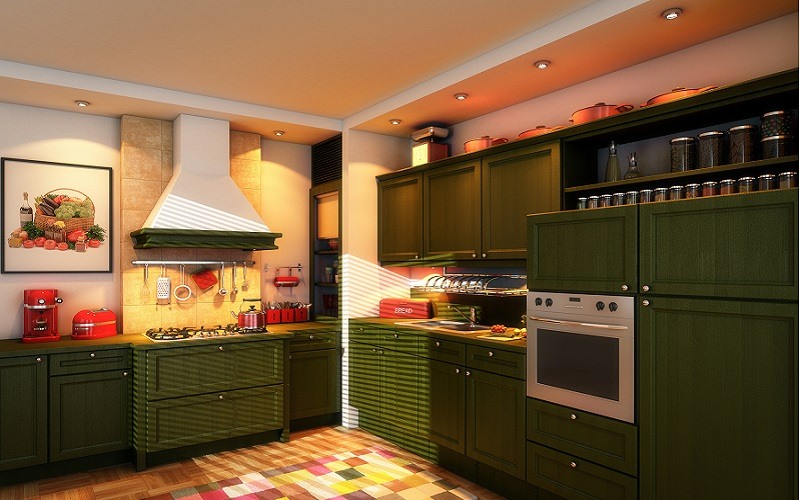Olive Green Kitchen Cabinet Paint - Cumming, GA