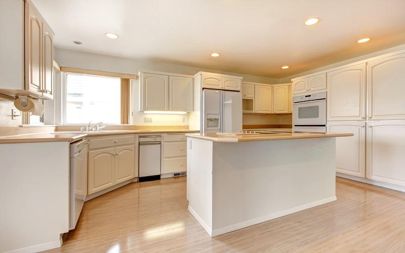 White Kitchen Cabinet Paint - Cumming GA - Kimberly Painting
